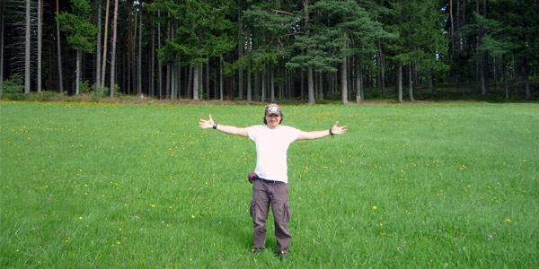 Mike Lorenzo en la Selva Negra alemana