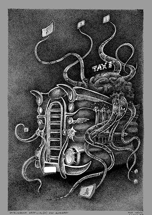 Taxi con AI Habana2100 poster Mike Lorenzo