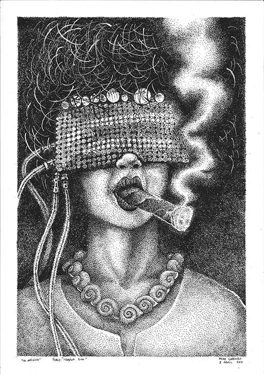la adivina Habana2100 dibujo original Mike Lorenzo