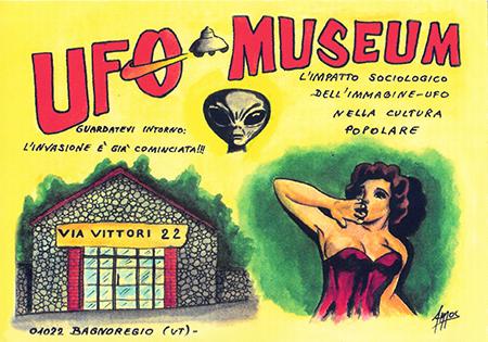 Postal del Museo UFO Italiano
